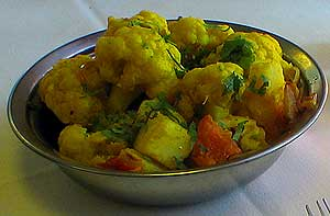 try our delicious kashmir style curried cauliflower