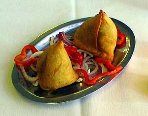 crispy, fresh made samosas